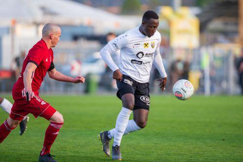 Brian Mwila erzielte für Altach schon ganze vier Treffer in der VN.at-Eliteliga.STIPLOVSEK