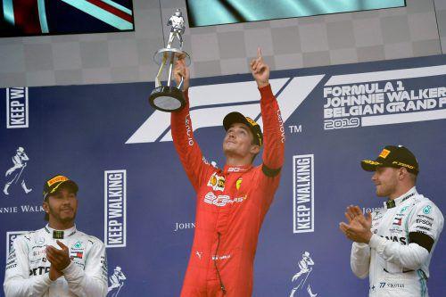 Charles Leclerc widmete seinen ersten Formel-1-Sieg seinem verstorbenen Freund Anthoine Hubert.AP