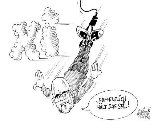 Chris Alge beim Bungee-Jumping!