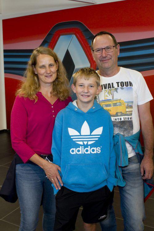 Christine (l.) sowie Rene und Thomas Burtscher.