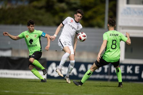 Das Hinspiel in der VN.at-Eliteliga zwischen Bregenz und den Lustenauer Amateuren endete mit einem 2:2-Unentschieden.VN/SAMS