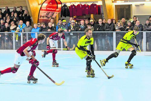 Das historische erste Ländle-Rollhockeyderby in der Schweizer Nati A steigt am 26. Oktober ab 18 Uhr in der Hockeyarena an der Ach in Wolfurt. Das zweite Prestigeduell wird am 25. Jänner 2020 um 18 Uhr in der Dornbirner Stadthalle angepfiffen. VN/Stiplovsek