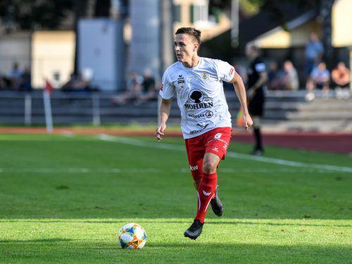 Der 21-jährige Lukas Fridrikas kam Anfang des Jahres von Wiener Neustadt nach Dornbirn und führt diese Saison die vereinsinterne Torschützenwertung mit vier Treffern an.GEPA