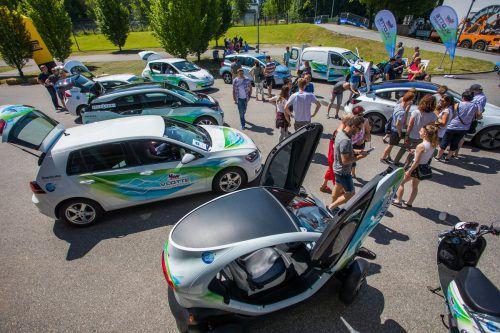 Der dritte Vorarlberger E-Mobilitätstag wird auch im Zeichen von zehn Jahre vlotte stehen. Außerdem können kräftig Fahrzeuge getestet werden. VN/Steurer