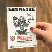 Amann wirbt mit Legalize um Wähler