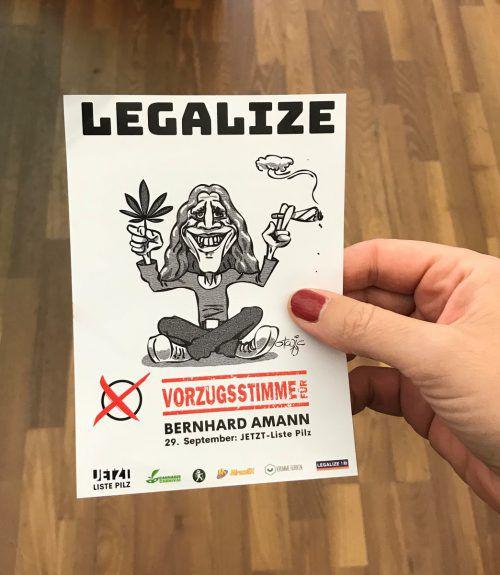 Der Hohenemser Vizebürgermeister Bernhard Amann möchte in den Nationalrat, um sich dort für die Legalisierung von Cannabis einzusetzen.VN