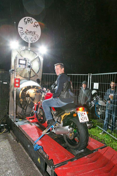 Der Motorradprüfstand war die Sensation beim heurigen Duringos-Camp.