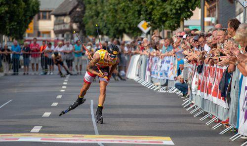 Der ÖSV-Kombinierer Lukas Greiderer war beim letzten Sommer-Grand-Prix in Oberhof als Fünfter bester Österreicher.OESV/Derganc