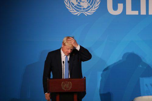 Der Regierungschef, der am Dienstag bei den Vereinten Nationen in New York weilte, pocht auf eine Neuwahl. AFP