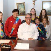 Kinderstadtrat beim Bürgermeister