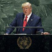 Trump wirbt für Protektionismus und attackiert den Iran