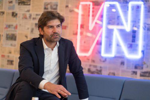 Der Vorarlberger Helmut Schweighofer ist Vorstandsvorsitzender von DB Schenker Europe. Seine berufliche Laufbahn begonnen hat er als Lehrling. VN/Stiplovsek