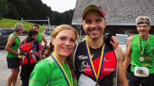 Die beiden Sieger Kathrin Schichtl und Andreas Gehrer.