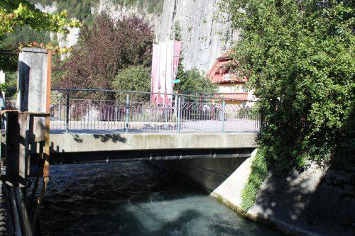 Die Engstelle bei der Landesbrücke gilt es zu entschärfen.