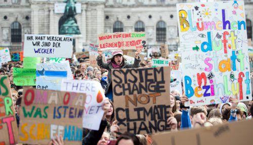 """Die """"FridaysForFuture""""-Bewegungübt seit MonatenDruck aus. Die Klimalandesräte unterstreichen deren Forderungen.APA"""