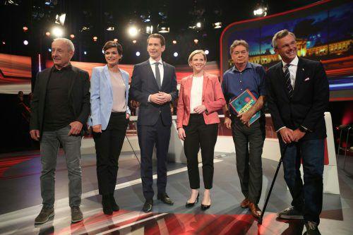 Die Kandidaten trafen sich am Donnerstag zur letzten Debatte vor der Wahl. APA