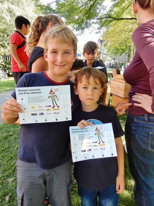 Die Kinder sammelten fleißig Stempel an den über 40 Stationen.