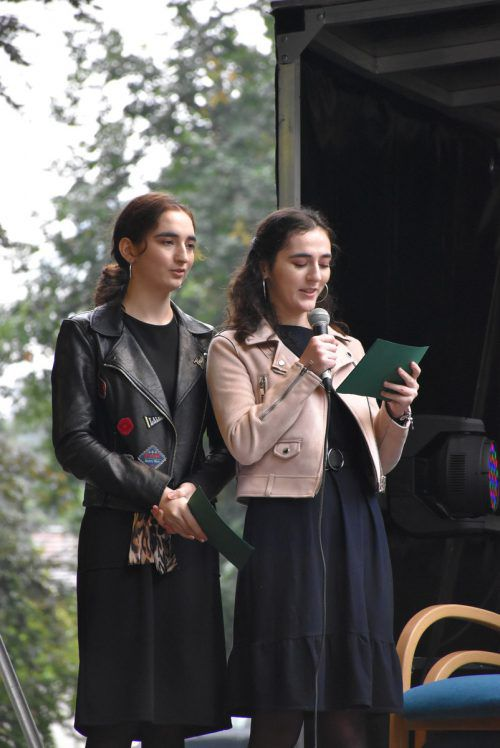 Die Mädchen von Politics4ourFuture bei deren Auftritt.