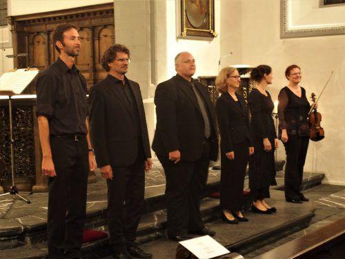 Die Mitwirkenden ernteten vom Publikum in der Basilika reichlich Applaus.JU