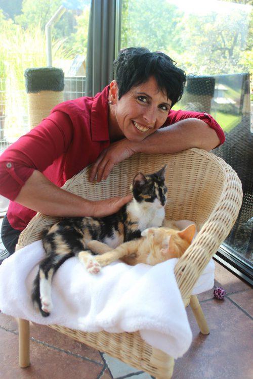 Die Rettung von Wildkatzen liegt Tierschützerin Alexandra Stampfer sehr am Herzen.