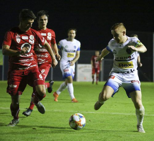 Die Rothosen waren gegen den Regionalligisten aus der Steiermark besonders im ersten Durchgang stets einen Schritt zu spät.gepa