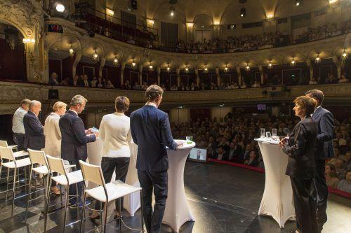 Die sechs Spitzenkandidaten lieferten sich eine teils hitzige Diskussion. SN