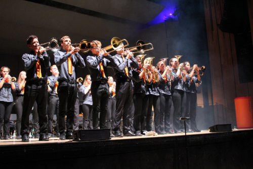Die siegreiche Liberty Brass Band Junior aus der Ostschweiz begeisterte mit einem impulsiven Auftritt und der Geschichte von Romeo und Julia.