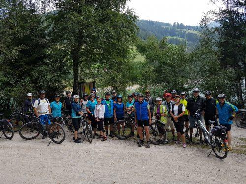Die Teilnehmer der Radtour. kac hörbranz