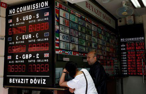 Die türkische Währung hatte 2018 rund 30 Prozent an Wert verloren. reuters
