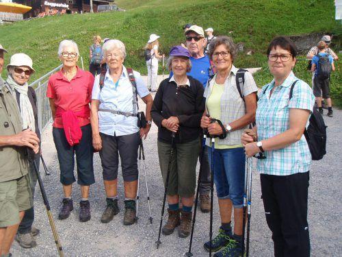 Die Wandergruppe des Seniorenbundes Götzis erkundete Ende August beim Herbstwandertag das Silbertal. SB Götzis