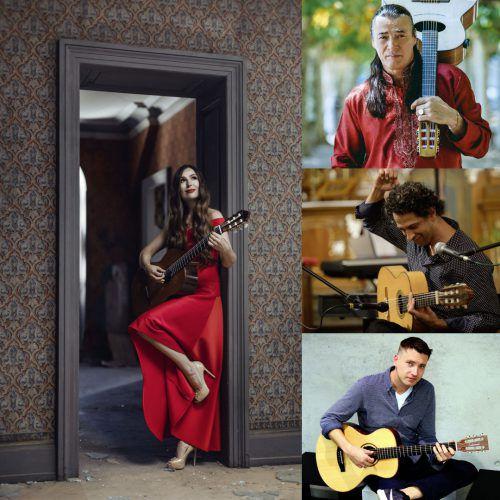 Die weißrussische Künstlerin Yuliya Lonskaya überzeugt mit brillantem Gitarrenspiel. lonskaya