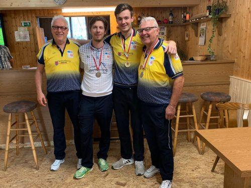 Dieter Ill, Simon Klaus, Joel Wolfgang und Günther Hausmair (alle Boccia Club Hard)boccia club hard
