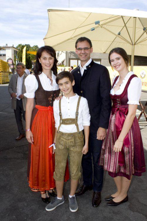 Familienausflug: LH Markus Wallner mit Sonja, Valentin und Sophia.
