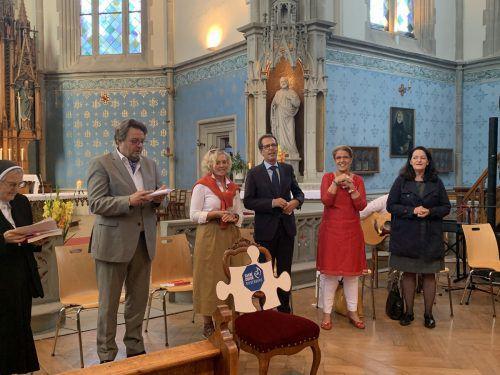 Feierlicher Wortgottesdienst für den neuen Schulträger und die LeiterInnen der Sacre Coeur Riedenburg in Bregenz. Riedenburg
