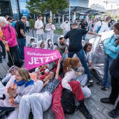 Proteste gegen Automesse. d8