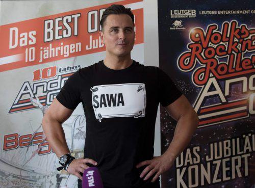 """Andreas Gabalier hat sich für München eine """"Mega-Show"""" überlegt. AFP"""