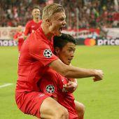 Fußballwahnsinn! Salzburg startet mit 6:2-Sieg in die Champions League. C1
