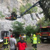 Sturz im Klettergarten