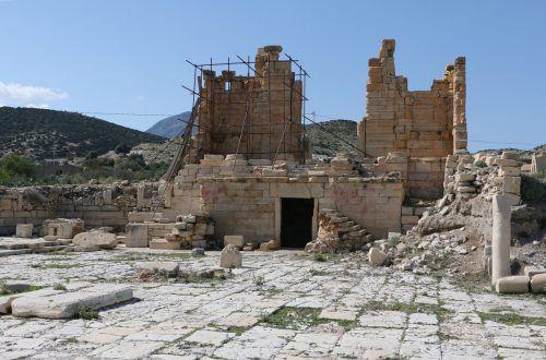 Forum von Abthugnos. Blick nach Nordwesten auf den Tempel. ÖAW-ÖAI
