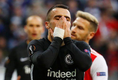 Frankfurts Kostic kann es nicht fassen: 0:3-Niederlage gegen Arsenal.Reuters
