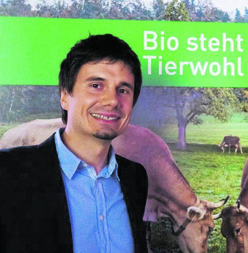 Fürs Ländle: BIO AUSTRIA Vorarlberg GF Manuel Kirisits-Steinparzer.