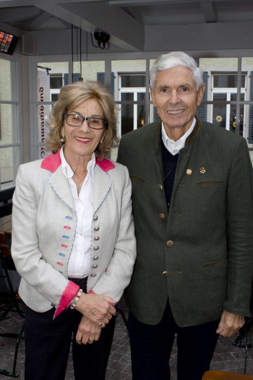 Gastgeberpaar Komm.-Rat Walter-Heinz Rhomberg und Edith.