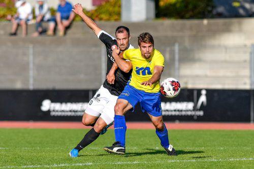 Gegen Bregenz musste sich Wolfurt letzte Woche mit 0:3 geschlagen geben.VN/LERCH