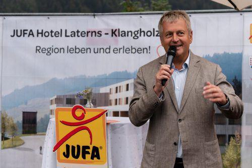Gerhard Wendl stellte alsJufa-Vorstandsvorsitzender das Projekt vor.