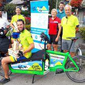 Finale der Giro to Zero–Radtour im Vorderwald