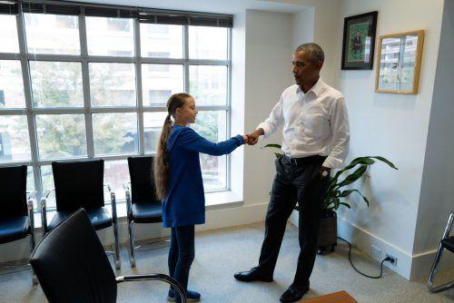 Greta Thunberg hat in Washington Ex-US-Präsident Barack Obama getroffen.
