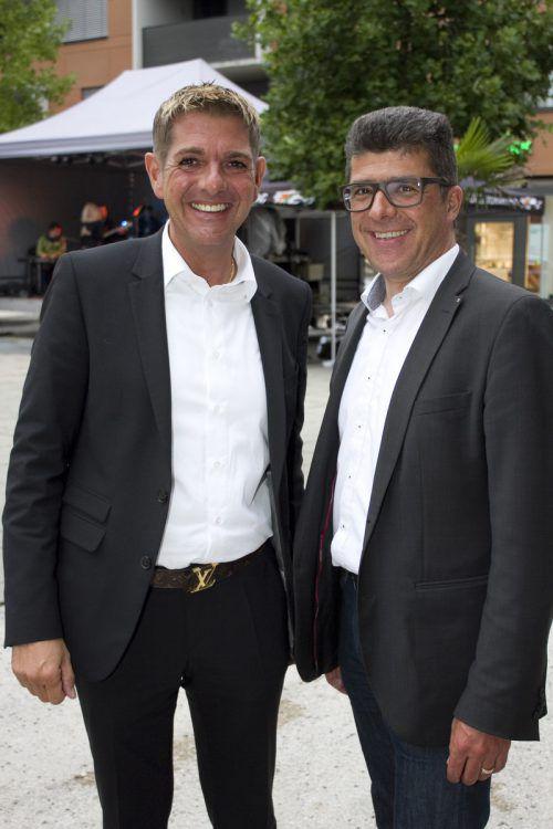 Günter Ender (l.) und Vizebürgermeister Clemens Ender waren mit dabei.