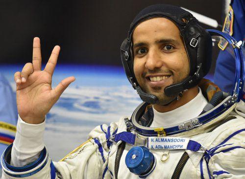 Hassa al-Mansouri soll acht Tage auf der ISS bleiben . AFP
