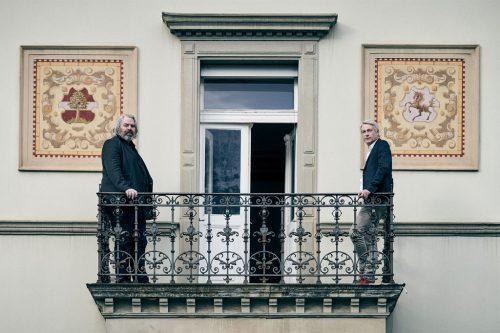In Erwartung der Vernissage: Alexander Waltner und Marco Spitzar. Marcel Hagen