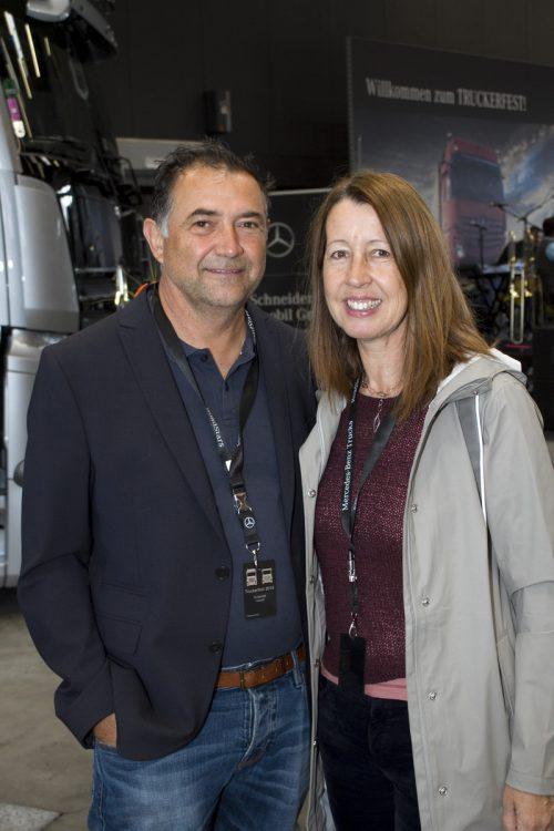Judith Mäser (Erhart Transporte) und Harald Sutterlütti (Fa. Blum).
